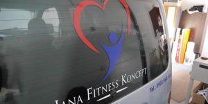 Polep auta Jana Fitness Koncept Malinovo - TwoAgency