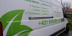 Nálepky na auto pre Green Garden - TwoAgency