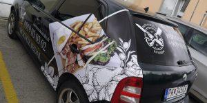 Polep a design na firemné auto pre Reštaurácia SK & HU Étterem - TwoAgency