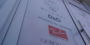 Reklamný polep výkladu pre Optika Oros