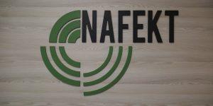 3D logo v kancelárií - Nafekt