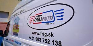 Polep vozidiel pre Frigproduct