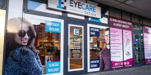 Reklamný polep pre Eyecare Bratislava - TwoAgency
