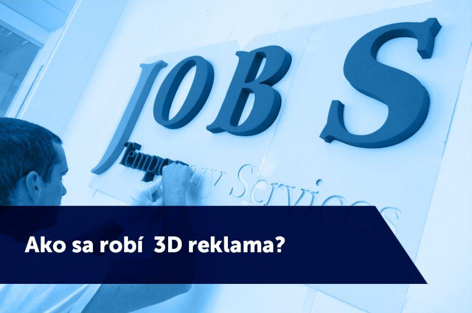 Ako sa robí 3D reklama?