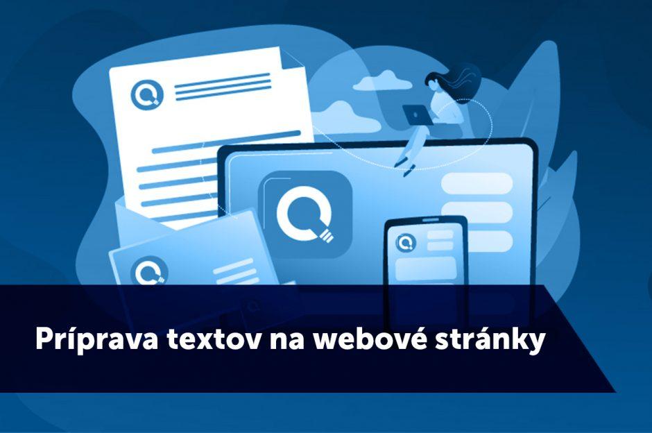 Príprava textov na webové stránky - Twoagency